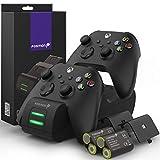 Fosmon DUAL 2 MAX Stazione di Ricarica Compatible con Controller Xbox Series X/S (2020), Xbox One/One X/One S Elite Controllers, (Dual Slot) …