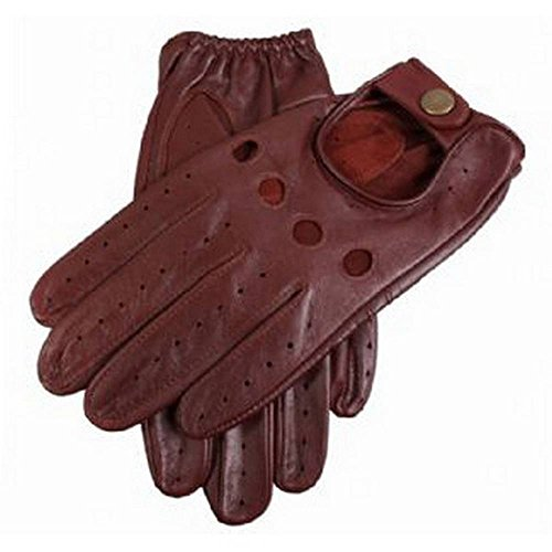 Dents Mens Delta Leather Driving Gloves - English Tan