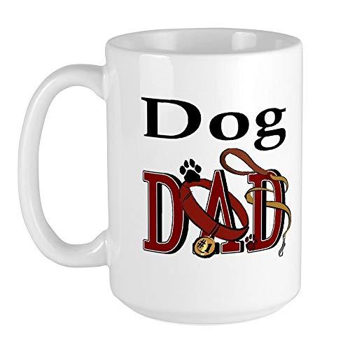 CafePress - Dog Dad Large Mug - Coffee Mug, Large 15 oz. White Coffee Cup