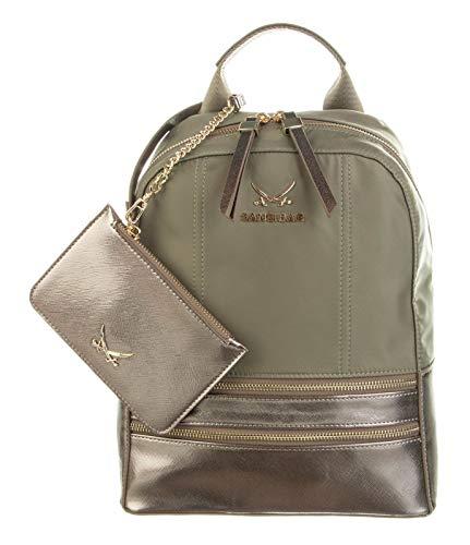 SANSIBAR-Damen Rucksack Backpack 23x31x13 048-OLIVE