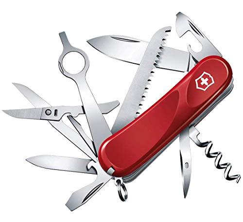 Victorinox Taschenmesser Evolution 23 (17 Funktionen, Ergonomisch, Klinge, Nagelfeile, Lupe) rot