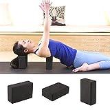 PUJING 1 Piece Black Yoga Block Foam Brick Indoor Yoga Blocks Stretching Aid Gym Pilates Summer Fitness Exercise Sport Blocks