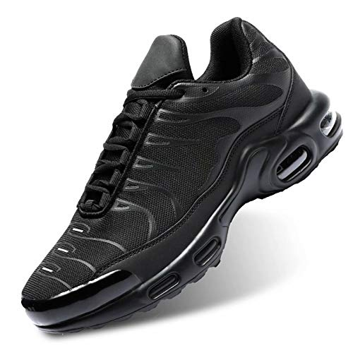 Mens Running Shoes Fashion Trainers Shoes Air Cushion Casual Shoes for Men Walking Gym Athletic Sports Sneakers Black