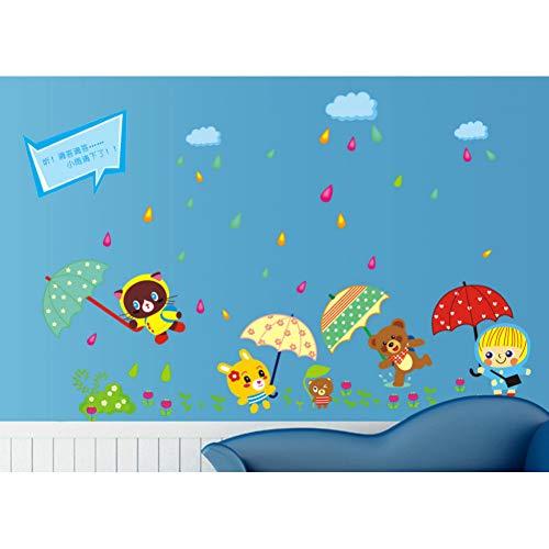 VIOYO product Cartoon dier behuizing regen dozijn paraplu kinderen in de huishoudelijke versiering muur stok op de muur