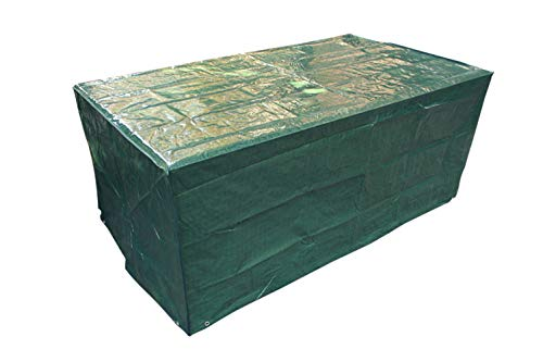 Laxllent Schutzhülle für Tisch Hülle Gartenmöbel Abdeckung,Wasserdicht Atmungsaktiv Abdeckhaube für Stühle,Sofa,170x95x70cm,PE,Grün