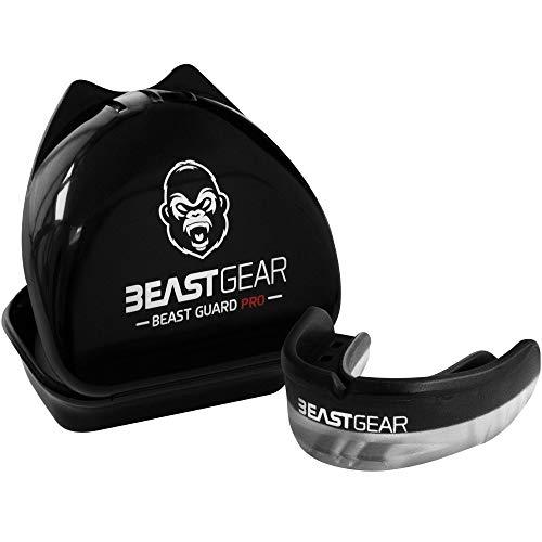 Beast Gear Pro Mouth Gum Shield para boxeo,MMA,rugby,muay thai,hockey,judo,karate y artes marciales Negro