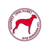 ワラ犬 ウィペット(ウイペット) ステッカー Cパターン ガールブラック