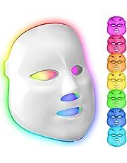 Mascara led facial profesional 7 colores Terapia luz de fotones para tratamiento facial Rejuvenecimiento de piel,Anti Envejecimiento, Arrugas