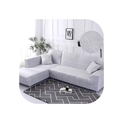 Fat Sheep 1/2 Pieces Sofa Cover Set Geometric Couch Cover Elastic Sofa Cover for Living Room Pets Corner L Shaped Chaise Longue Sofa Cover,Color 10,2Seater and 3Seater