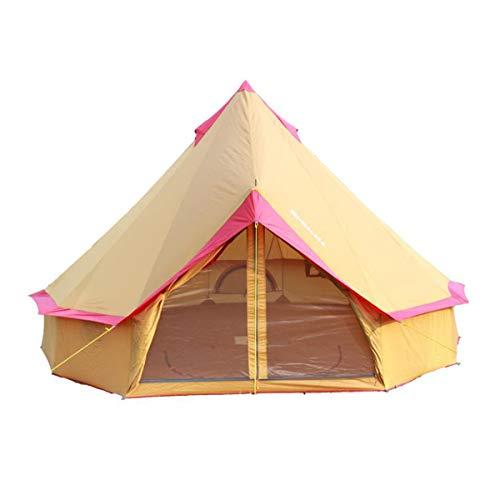 LAYX Pyramide Runde Glocke Zelt, 10-12 Personen Baumwolle Leinwandzelt 4-Saison Yurt Zelte Für Familienunternehmen Camping