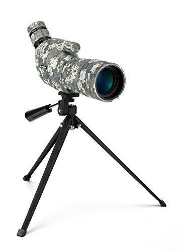 Minox DMAX Camouflage 15-45x50 Spektiv – Jagd-Spektiv mit Klein-Stativ – Inkl. Bereitschaftstasche, Schutzkappe für Okular, Schutzdeckel für Objektiv & Optikputztuch