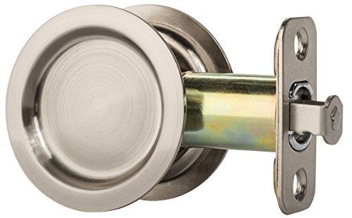 Dynasty Hardware Round Hall/Closet Passage Pocket Door Latch Satin Nickel