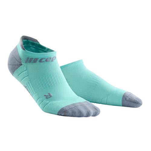 CEP – NO Show Socks 3.0 für Damen | Kurze Sportsocken für Dein Workout in hellblau/grau | Größe III