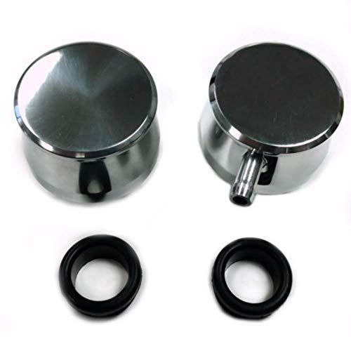 Pirate Mfg Hot Rod Polished Billet Aluminum PCV & Valve Cover Breather Kit W/Grommet