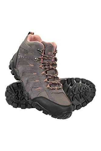 Mountain Warehouse Belfour Botas Impermeables Mujer - Zapatos IsoDry, Calzado Transpirable, Parte Superior de Ante y Malla, Acolchado EVA - Ideal para Acampar y Viajar Gris Talla Zapatos Mujer 40 EU