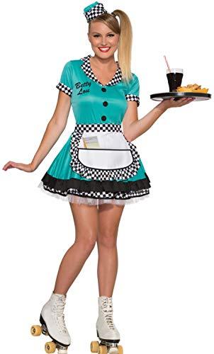 Forum Novelties - CS974381/XS/S - Costume serveuse dinner annees 50 bleu \