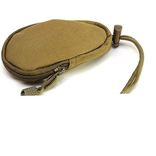 EDC Mini Key Wallets Holder Men Coin Purses Pouch Military Army Camo Bag(soil color)