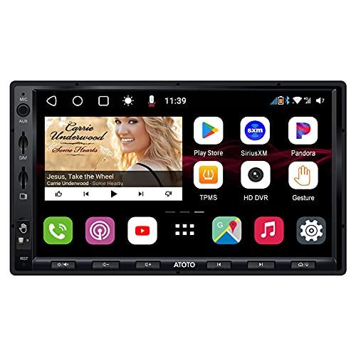 ATOTO S8 Gen 2 Ultra 7 Pulgadas Navegación del automóvil Android en el Tablero, S8G2A78UL-A, 2 BT con aptX HD,Enlace telefónico inalámbrico,Operación de Gestos,VSV y LRV,Módem Celular 4G Integrado