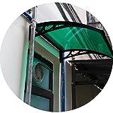 PTY Vordach für Haustür Polycarbonat-Markise-Baldachin, UV-Schutz vor...
