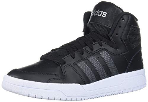 adidas Women's Entrap Mid Basketball Shoe, core Black/Grey Six/Matte Silver, 9.5