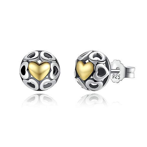 One True Love 925 Sterling Silver My One True Liefde Oorbellen voor Vrouwen Opengewerkte Hart Oorbellen Fijne sieraden