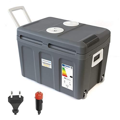 Dino KRAFTPAKET 131002 Kühlbox 12V 230V (WÄRMT & KÜHLT) HÖHE: 42cm GRÖSSE: 45-Liter (40L netto) Elektrische Kühlbox für Auto Boot Camping, A++ mit ECO-Modus [Energieklasse A++]