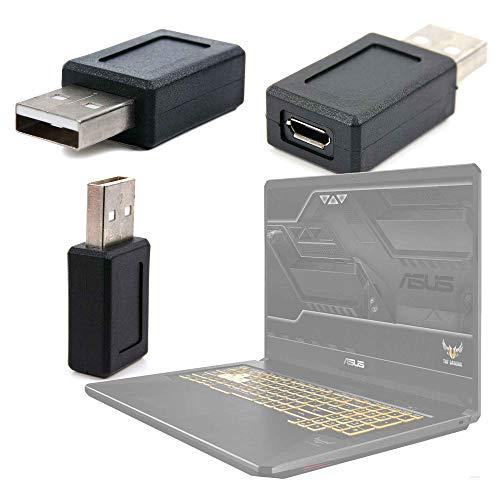 DURAGADGET Adaptador USB (Macho) A Micro USB (Hembra) Compatible con Portátil ASUS TUF Gaming FX705GM-EV020