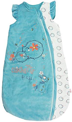 Petit Béguin - Baby Mädchen Winter Schlafsack mitwachsend wattiert Igel Gr. 56-68 cm (1/6M)