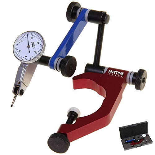 """Anytime Tools Test Dial Indicator 0.0005"""" 0-15-0 and Universal Holder Quill Clamp for Bridgeport Mill Machine Clamping Diameter 1-7/8"""""""