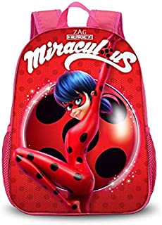 Ladybug Cartoon Cute Pattern Backpack for Girls, Children and Teen Kids School Bag.