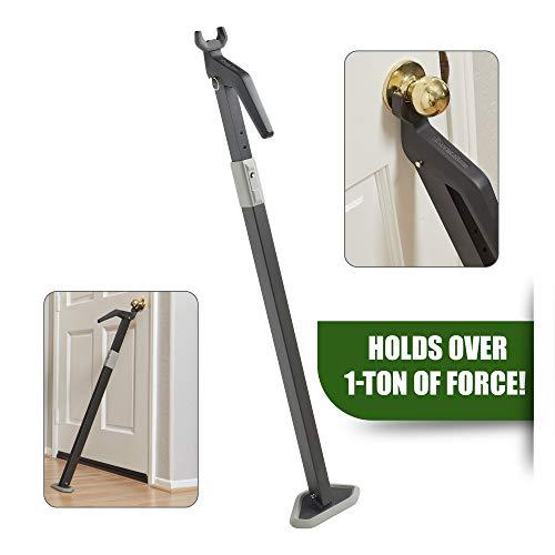 Heavy Duty Security Door Bar | Fully Adjustable, Universal Door Stopper Device for Home Defense |...