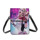 Suicide Squad Harley Quinn (17) Nappa Decorazione Della Cerniera Flap Piccola Spalla Cross-Body Borsa Sella Con Chiusura A Serratura
