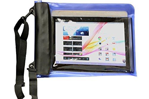 Navitech Schwarzes Wasserfestes Hülle, Wasserfestes Cover für Odys Mira 17,8 cm Tablet-PC