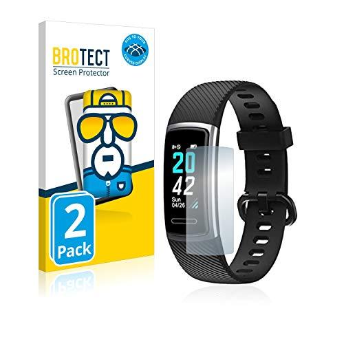 BROTECT Full-Cover Schutzfolie kompatibel mit Kungix ID152 (2 Stück) - Full-Screen Displayschutz-Folie, 3D Curved, Kristall-Klar