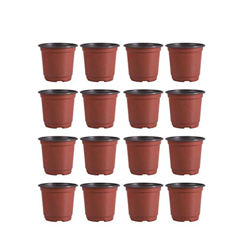 DOITOOL Lot de 50 Pots de semis en Plastique Pots de Fleurs Pots de Plantes Plastique De Plantes À Fleurs Graine De Démarrage Pot (Diamètre 120mm)