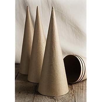 Paper Mache Cones 10.5 Set of 6 Indoor /& Outdoor Excellent Home Decor