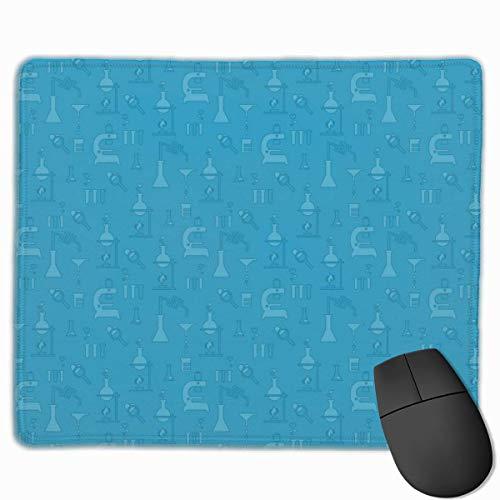 Chemischer Test Blau rutschfeste personalisierte Designs Gaming Mouse Pad Schwarzes Tuch Mousepad Art Natural Rubber Mouse Mat