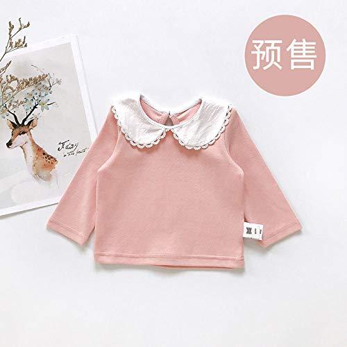 LiSh-EC Baby Cord Weste Overall Frühling und Herbst Kinder Neue koreanische Version von Strampler Kinderkleidung-Boden Shirt pink_66cm
