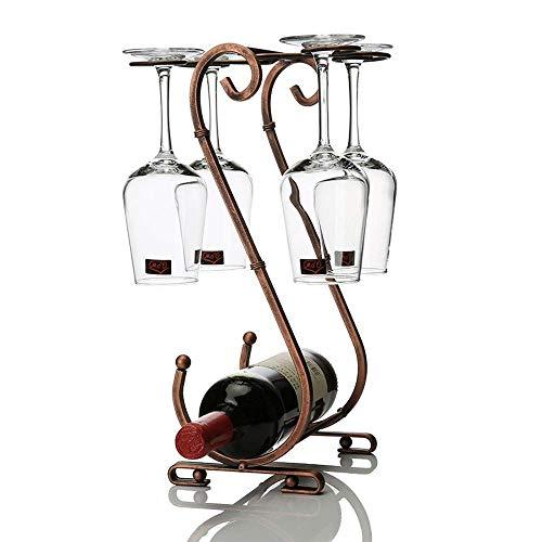 Manyao Inicio de metal estante del vino decoración del hogar artesanía Sala Decoración Plegable