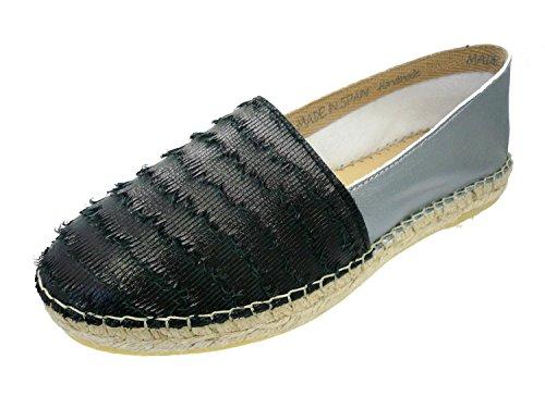 ILC - I Love Candies - Dames Espadrilles schoenen Slipper Handmade Spain, Maat: D 42, Kleur: Zwarte tinten