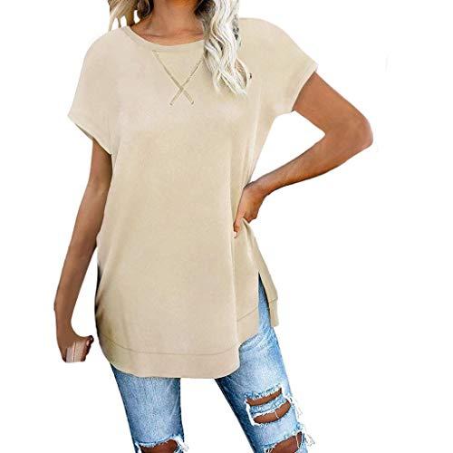 Women's Loose Autumn Blouse Printed Long Sleeve T-Shirt Large Recreational top Khaki