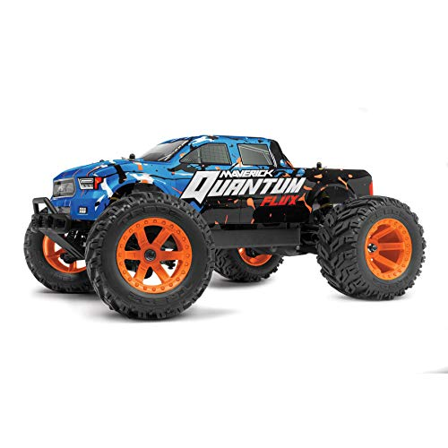 Maverick Quantum MT Flux 1/10 4WD Monster Truck - Blue Blau, Schwarz, Orange Brushless 1:10 RC Modellauto Elektro Monst
