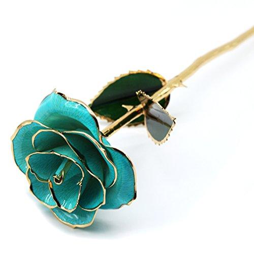 Obller, rosa naturale immersa in oro da 24 K, fiore...