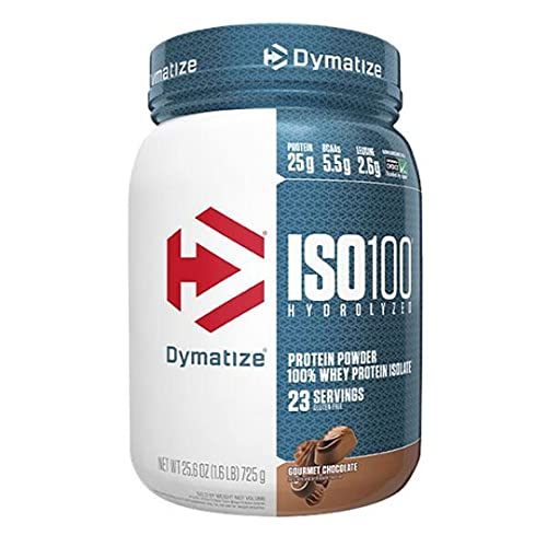 Dymatize ISO 100 Hydrolyzed Whey Protein Isolate - Gourmet Chocolate 1.6 lbs