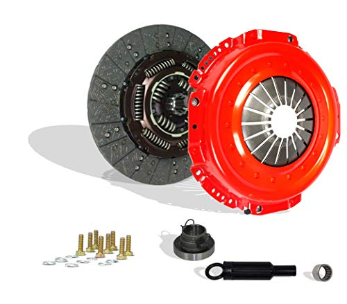 Clutch Kit Compatible With Ram 2500 3500 Laramie SLT ST Base Cab Pickup 1998-2003 5.9L l6 DIESEL OHV Turbocharged 8.0L V10 GAS OHV Naturally Aspirated (CUMMINS TURBO DIESEL; 5-SPEED; Stage 2; 05-092R)
