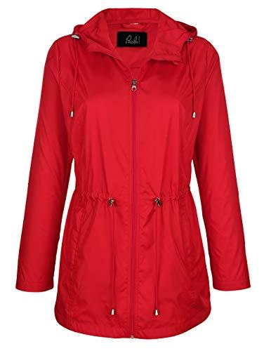 Paola Damen Jacke in Rot mit Tunnelzug in der Taille