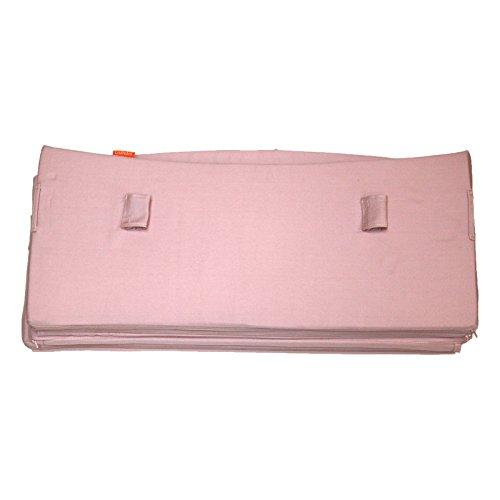Leander Nestje voor babybed | van 100% katoen in soft pink (roze), materiaal gecertificeerd volgens Oeko-Tex standaard | Originele accessoires voor babybed van Leander, past op alle opbouwvormen van bed, fullsize model, veilige bevestiging met banden