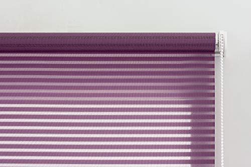 Estoralis Roma Estor Enrollable translucido Liso, Tela, Violeta, 150 x 190 cm