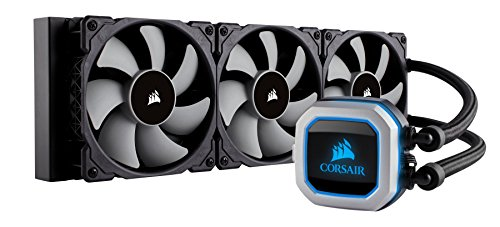 CORSAIR HYDRO Series H100i PRO RGB AIO Liquid CPU Cooler, 240mm, Dual ML120 PWM Fans, Intel 115x/2066, AMD AM4 (Renewed)