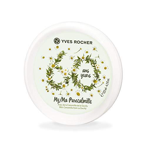Yves Rocher PURE CALMILLE Collector Pflegecreme Gesicht & Körper, Feuchtigkeitscreme mit Bio-Kamille, 1 x Dose 125 ml